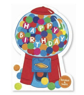 Scratch & Sniff Birthday Cards - Bubblegum - Little Whale