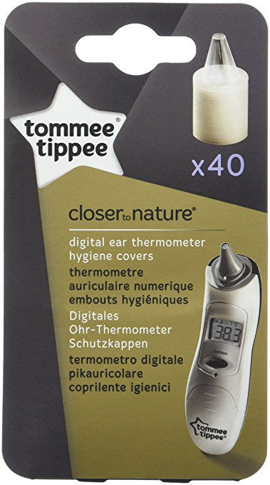 Tommee Tippee Closer To Nature EAR THERMOMETER HYGIENE COVERS Refills x40