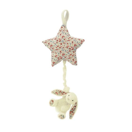 BLOSSOM BASHFUL CREAM BUNNY STAR MUSICAL PULL - Little Whale