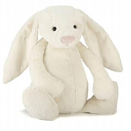 BASHFUL CREAM BUNNY HUGE - Little Whale