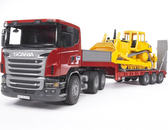 Scania R-series Low loader truck w CAT Bulldozer - Little Whale