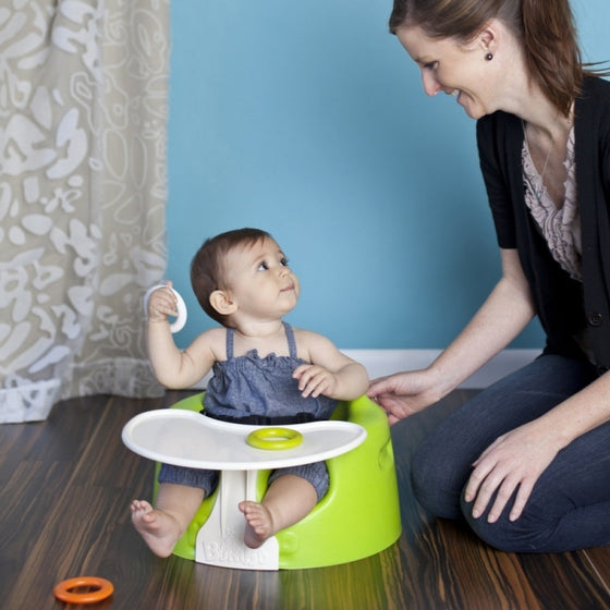 Lime Green - Floor Seat + Play Tray Combo Set - Little Whale