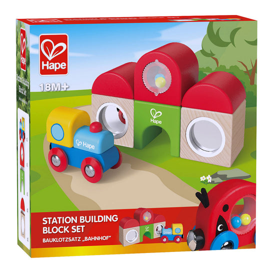 Station Building Block Set (18m+) - Little Whale