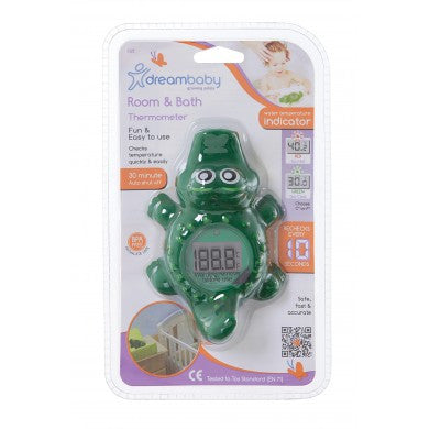 Room & Bath Thermometer (Crocodile) - Little Whale