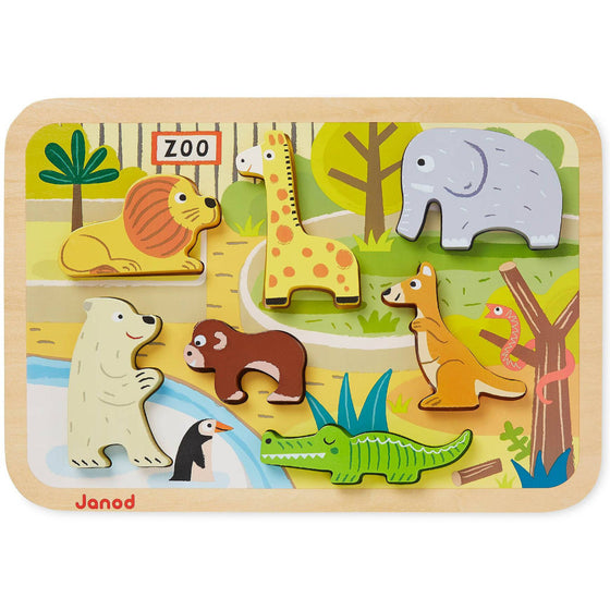 Zoo Chunky Puzzle (18m+) - Little Whale