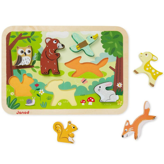 Forest Chunky Puzzle (18m+) - Little Whale