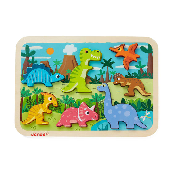 Dinosaurs Chunky Puzzle - Little Whale