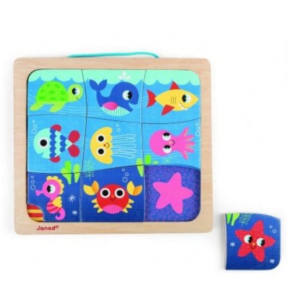 Magneto Puzzle Happy Fish (18m+) - Little Whale
