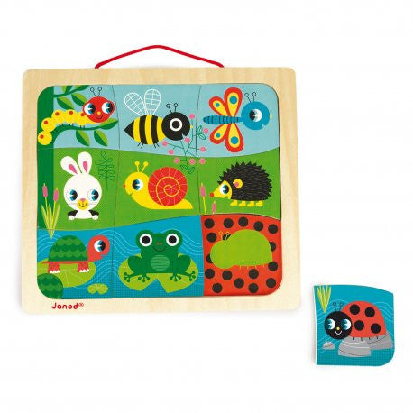Happy Garden Magnetic Puzzle - Little Whale