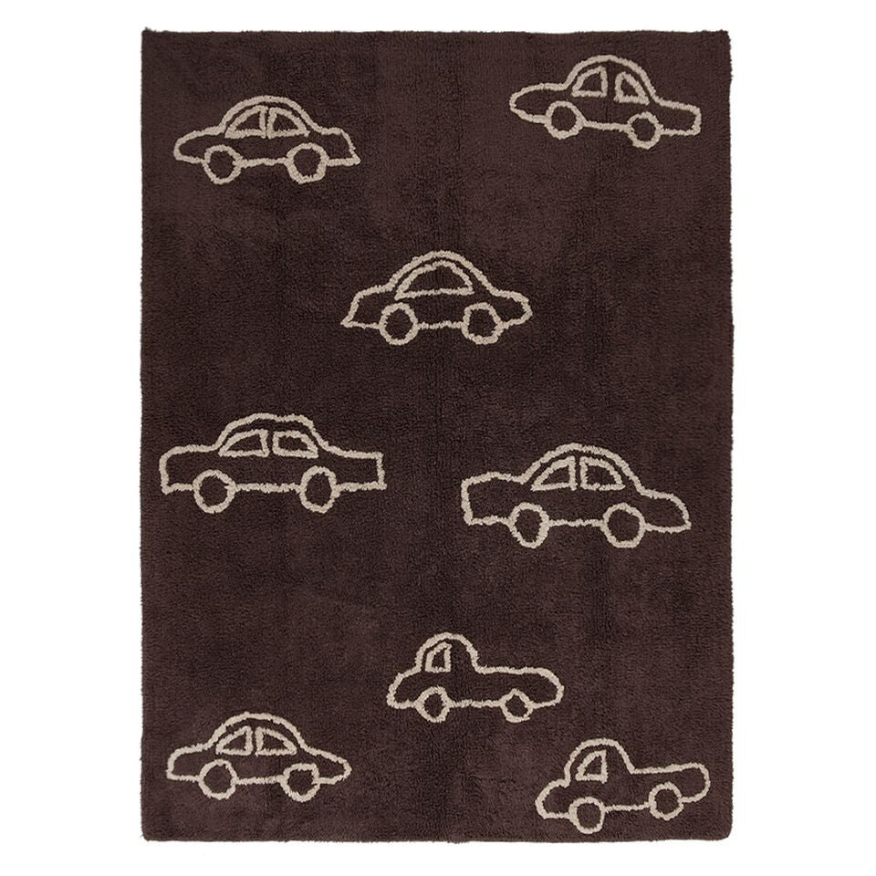 Brown Carpet With Cars 120*160cm - Little Whale