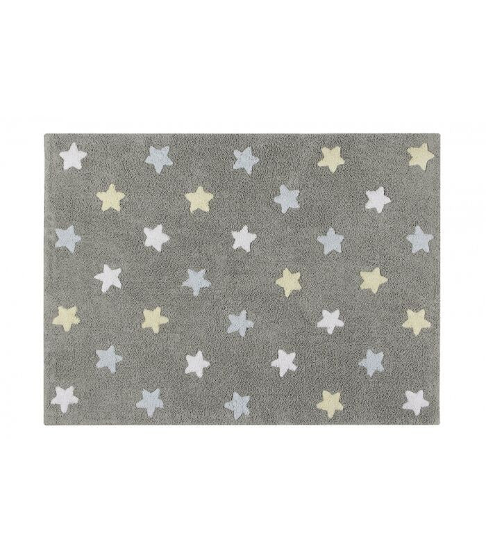 Tricolor Stars Grey-Blue 120*160cm - Little Whale