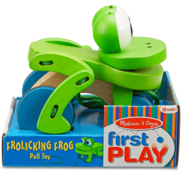 Frolicking Frog Pull Toy - Little Whale