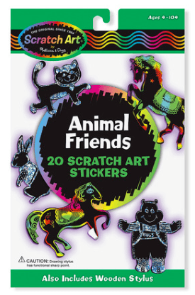 SCRATCH MAGIC ANIMAL FRIENDS STICKERS - Little Whale