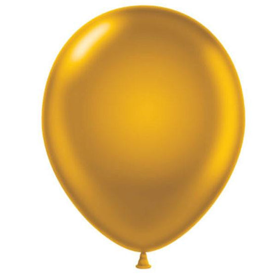 Gold Latex Balloon - Little Whale