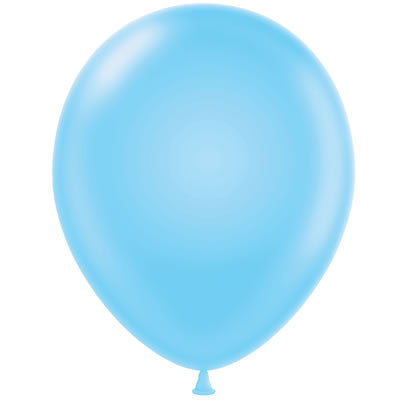Sky Blue Latex Balloon - Little Whale