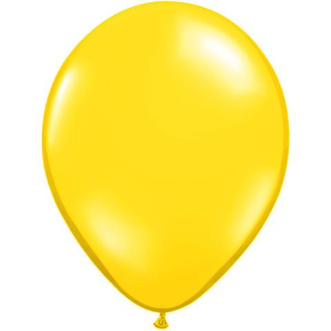 Yellow Latex Balloon - Little Whale