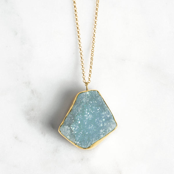 FREEFORM RAW STONE BLUE PENDANT
