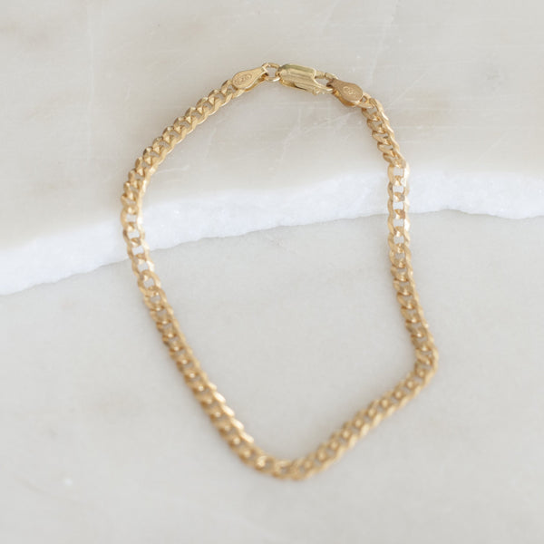 ITALIAN CURB CHAIN ANKLET