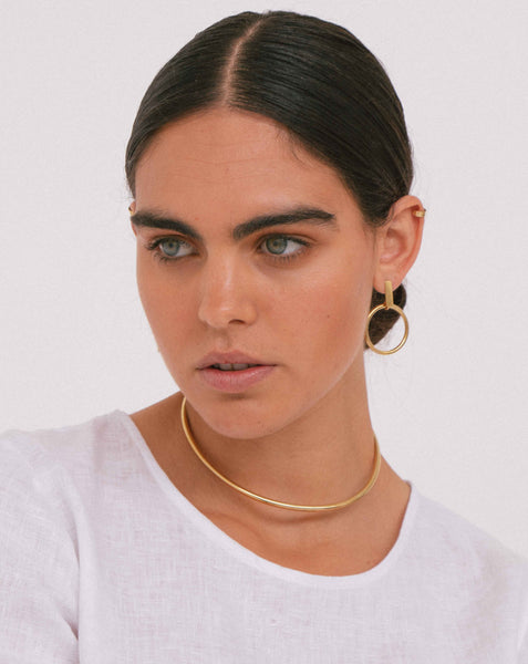 REFUGE MAXI EARRINGS BRASS