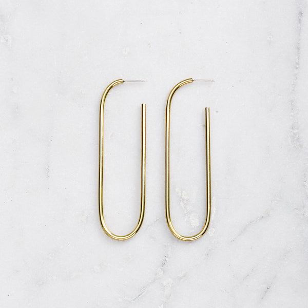 A LA VISTA EARRINGS BRASS
