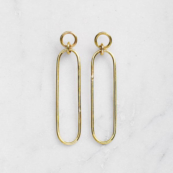 DROP EARRINGS BRASS