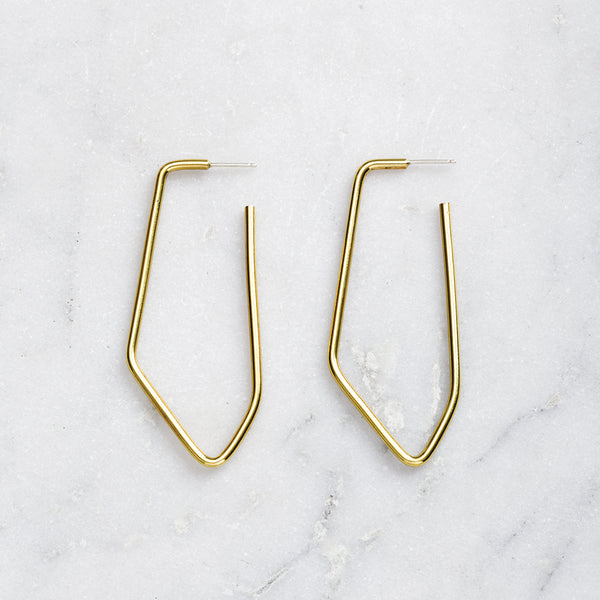 ELONGATED FREEFORM EARRINGS