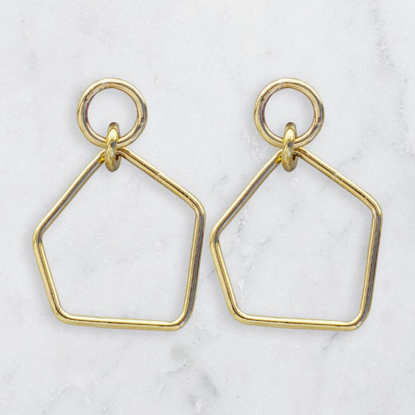 FREEFORM MAXI EARRINGS BRASS