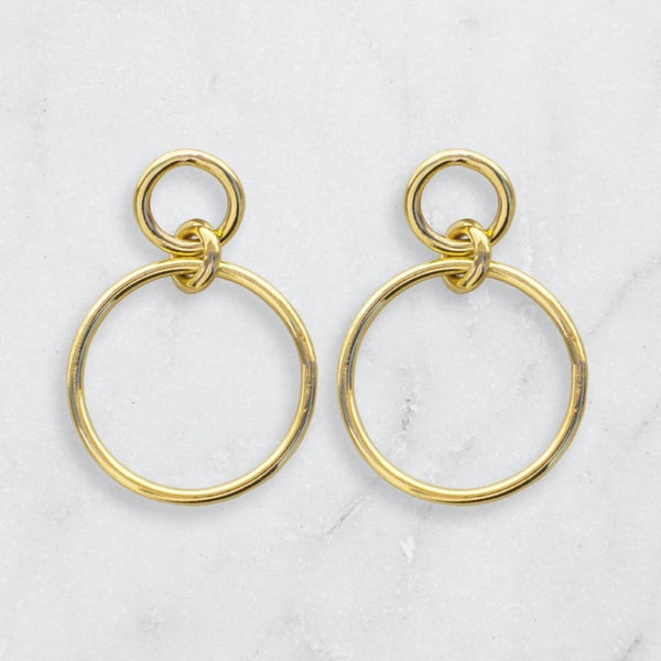 OASIS MAXI EARRINGS BRASS