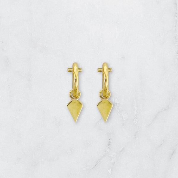 SHIELD EARRINGS BRASS