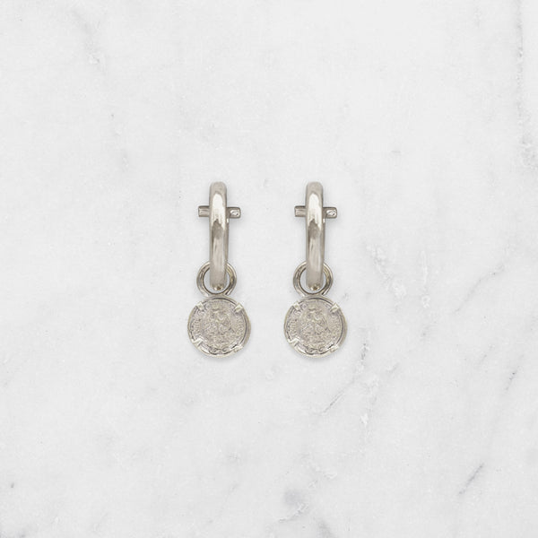 SMALL ROUND PESO EARRINGS