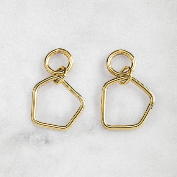 FREEFORM EARRINGS BRASS