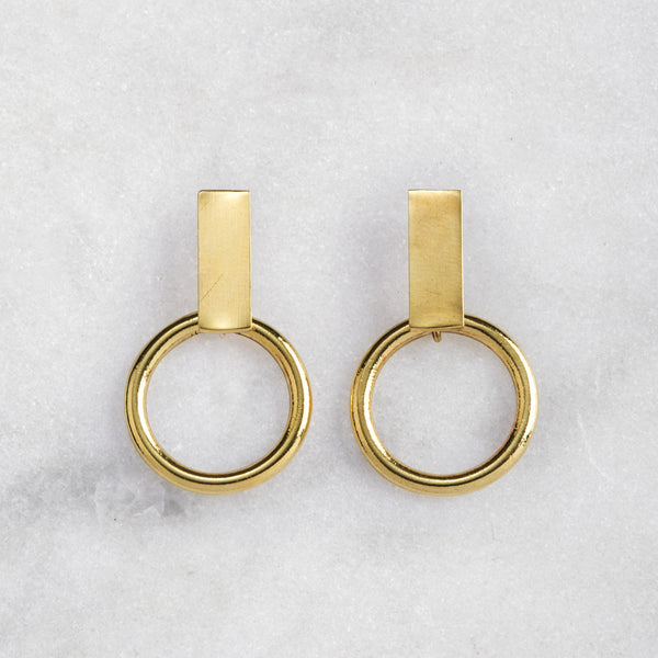 REFUGE EARRINGS BRASS