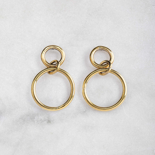OASIS EARRINGS BRASS