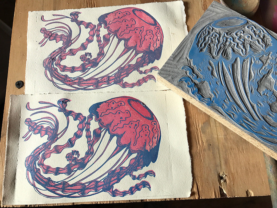 Jellyfish test print for registration