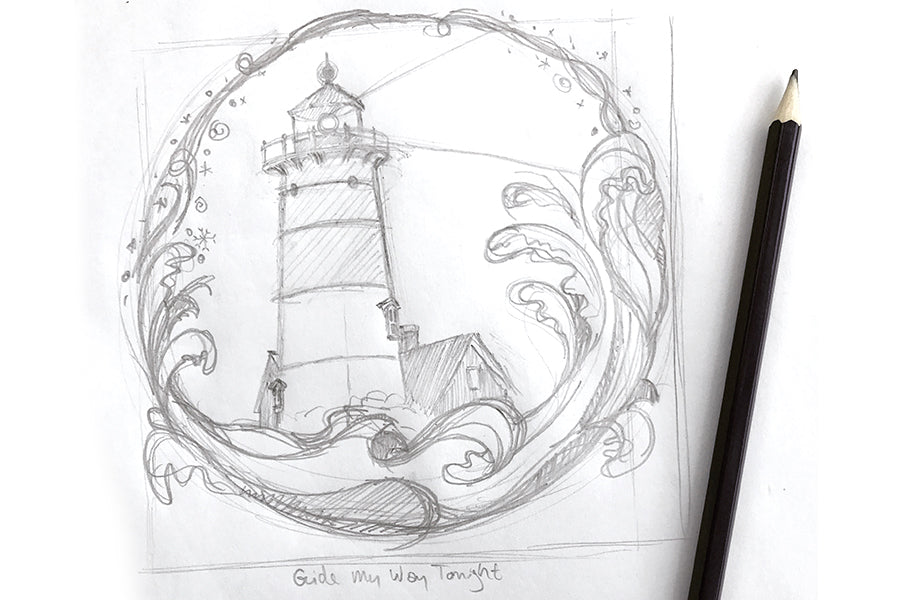 Nauset Light sketch - Paprika Press Printshop