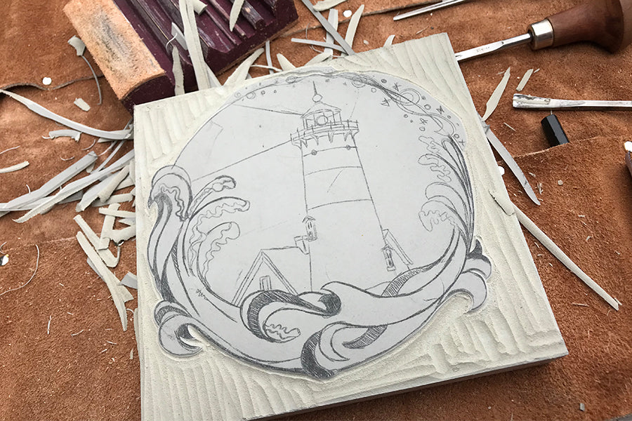 First cuttings of Nauset Light - Paprika Press Printshop