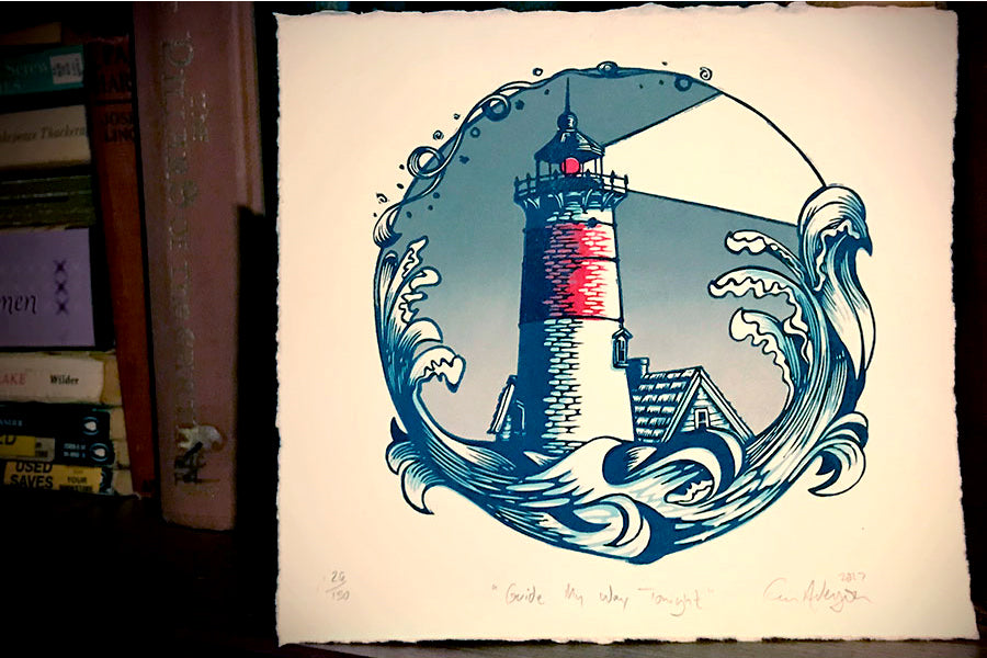 Final Lighthouse - Paprika Press Printshop