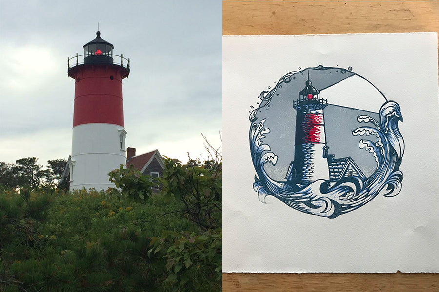 Nauset Light - Paprika Press Printshop