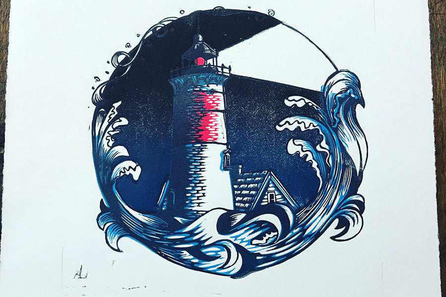 Color Test Lighthouse Night - Paprika Press Printshop