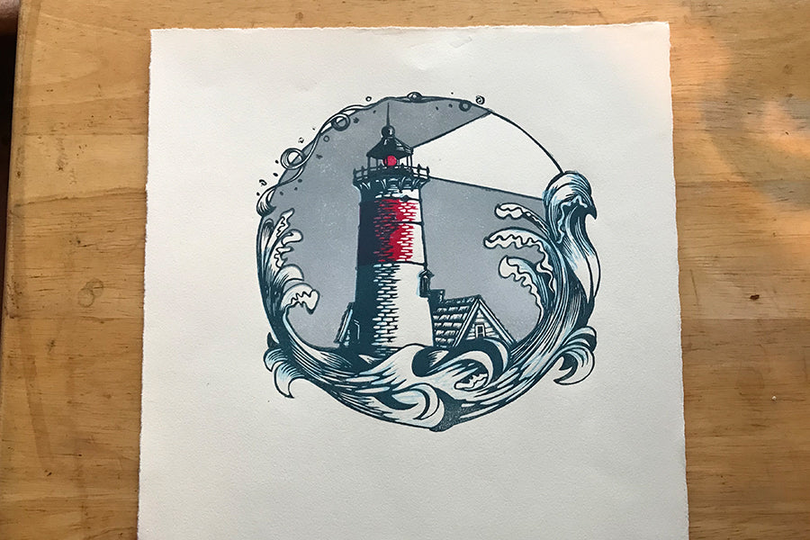 Color Test Lighthouse Overcast - Paprika Press Printshop