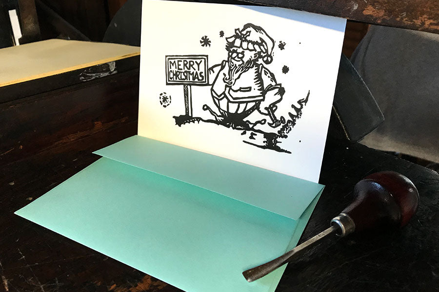 Christmas Elf Letterpress Card  |   by Paprika Press Printshop