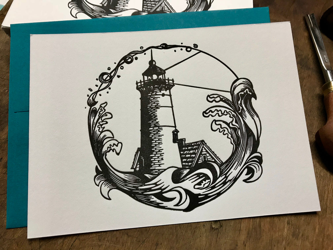 Lighthouse - Letterpress Card