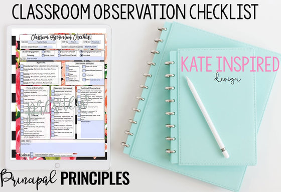 DIGITAL CLASSROOM OBSERVATION CHECKLIST- KATE INSPIRED