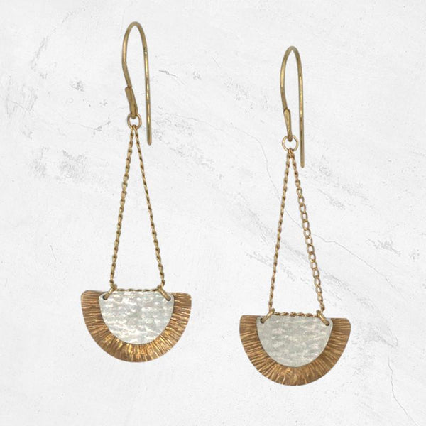 PALO DURO Mixed Metal Earrings