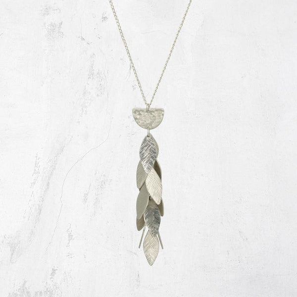 VELOX Leaf Drop Necklace