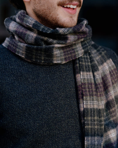Escorial Wool Wellington Check Scarf