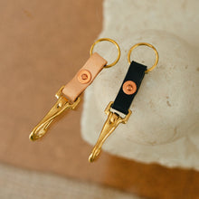 Leather Key Clip in various colours