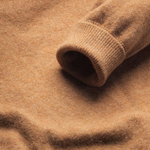 Lambswool V-Neck Jumper - Camel