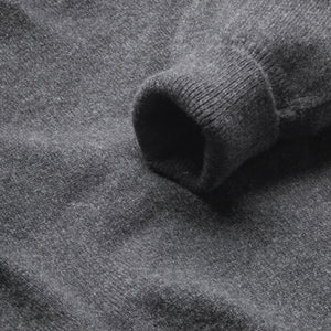 Lambswool V-Neck Jumper - Charcoal