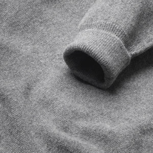 Fine Lambswool V-Neck Jumper - Grey